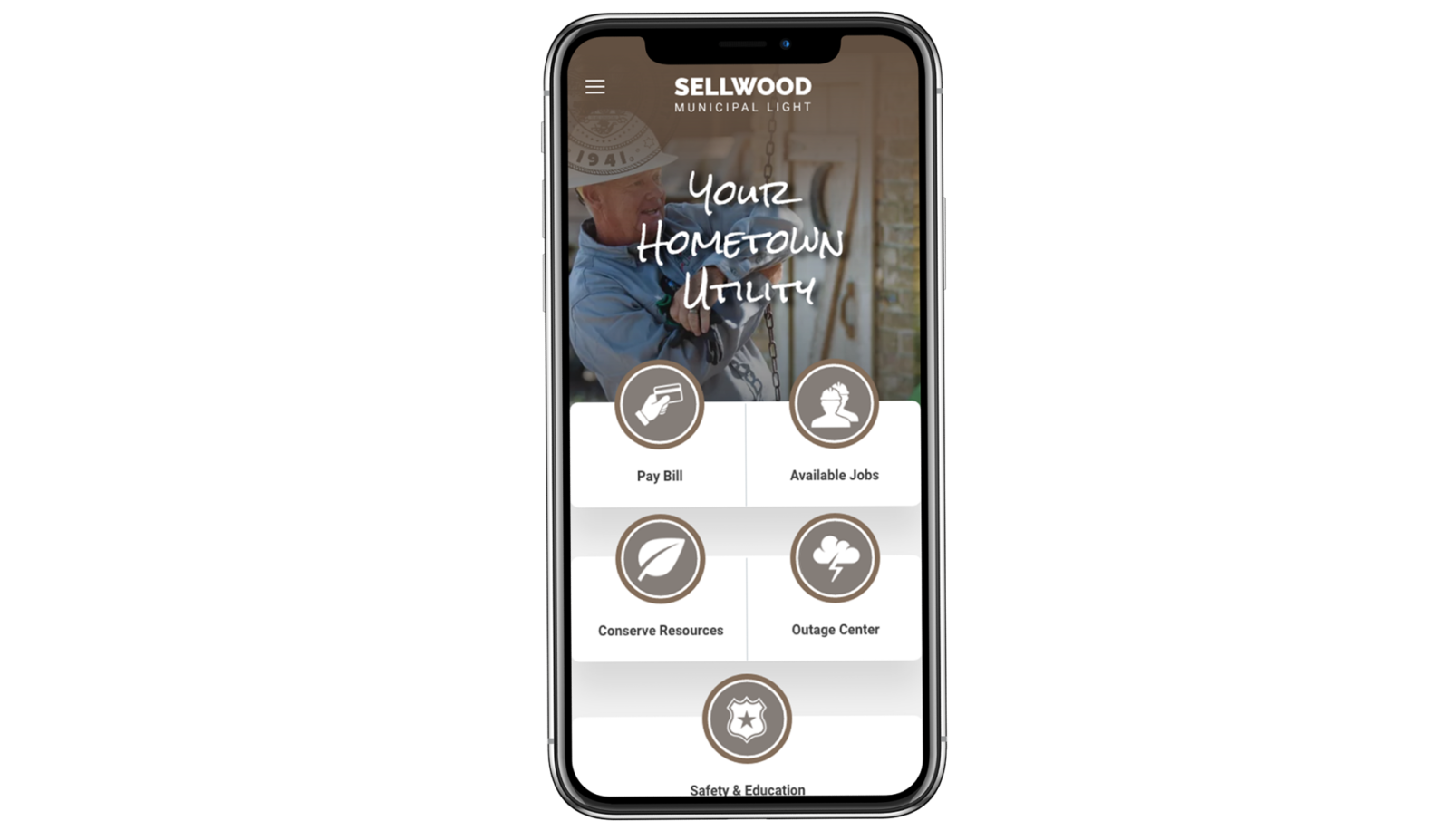 Sellwood Design on Mobile Device